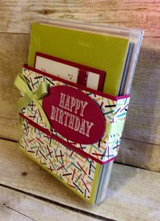 Acetate Box Of Double Z Fold Birthday Cards Tuesday Stampin