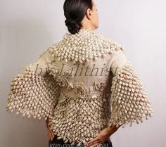 Bridal Shrug Bolero Crochet Shrug Wedding Bolero by lilithist