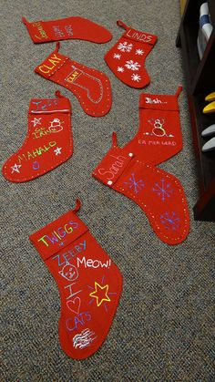 We felt inspired by the holidays and took some time to decorate stockings at the Fargo RealTruck office. Here are a few of the festive creations. Thanks to felt stocking and puffy paint, these turned out great!