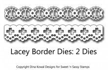 Lacey Eyelet Border Dies Sassy, Card Making, Stamps, Cards, Tools, Design, Seals, Instruments