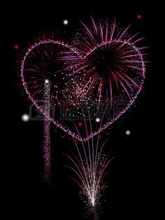 Illustration of Valentine's fireworks display vector art, clipart and stock vectors. I Love Heart, Happy Heart, Heart Pics, Fireworks Photography, Fire Works, Fire Heart, Heart Art, Vector Art, Heart Shapes