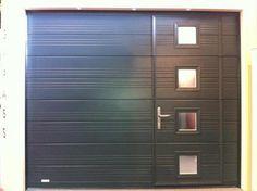 Porte De Garage Basculante Avec Portillon CENTPOURCENTPOSE Vente - Porte de garage sectionnelle avec porte pvc renovation