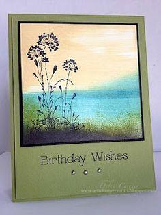 ARTfelt Impressions: Serene Scene, this card is a work of art!