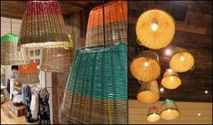Lighting Inspiration: Spray-painted, upside down baskets as lampshades