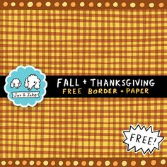 Clip Art: Frames, Borders and Papers. FREE Fall and Thanksgiving Colors Border and Digital Paper