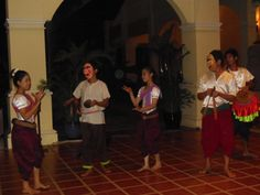 Arrive at Sofitel Angkor Phokeethra by musicians and dancers in Cambodia.