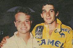 Rubens Barrichello e seu padrinho no automobilismo Ayrton Senna. Na época, Rubinho era o principal nome do kart brasileiro, na foto aos 15 anos de idade -  Ayrton Senna incentivated Rubens Barrichello carreer