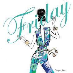 Best Ideas For Fashion Quotes Monday Megan Hess Hello Friday, Happy Friday, Friday Fun, Happy Week, Megan Hess Illustration, Illustration Art, Fashion Quotes, Fashion Art, Artist Fashion