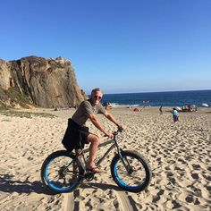 This was a great day to cruise our #FatTire bikes along the sand! #PointDume #Malibu
