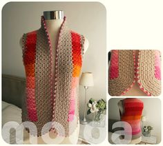 Personalized vest broderie pink red orange peach by Molda on Etsy, $133.00