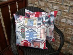 Christmas decor,Boat house Cushion covers,cottage nautical pillow covers,home accent,pillow covers by Designs by Willowcreek on Etsy by DesignsByWillowcreek on Etsy Nautical Pillow Covers, Nautical Pillows, Old Pillows, Accent Pillows, Throw Pillows, Cottage Cushions, Chunky Blanket, Boat House, French Country Cottage