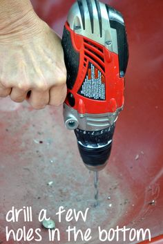 Drill holes in bottom: Wheelbarrow Planter | DIY Playbook