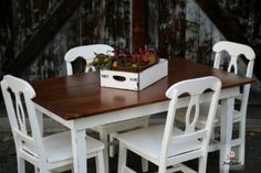 Farmhouse table by FunCycled  www.funcycled.com