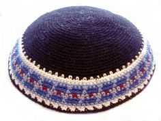 The traditional Kippah, worn in Israel.