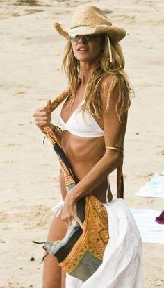 Elle Macpherson in the perfect white bikini! #pintowin #jumpforjune