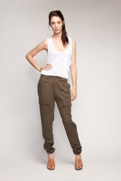 $125 cuff cargo pants by Covet