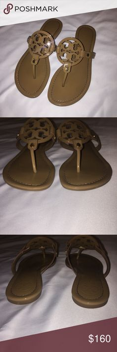 Tory Burch Miller Sandals Excellent condition - hardly worn - labeled as an 8 because they fit like an 8 even though they're an 8.5 - no box - listed on e Bay for $140 Tory Burch Shoes Sandals