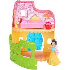 Disney Princess Little Kingdom MagiClip Snow White Playset by Mattel in Figures. Slumber Party Games, Birthday Games, Diy Birthday, Minnie Mouse Toys, Building Games For Kids, Disney Princess Birthday, Barbie Party, Princess Collection, Disney Toys