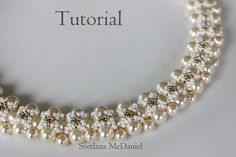 PDF tutorial beaded pearls necklace Follow Me_ beading_seed beads_pearls_Swarovski