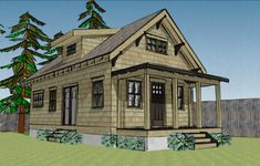 Cottage Home Plans Cottages are heat, quaint, and welcoming. Our cottage home plans embody designs with bungalow and Craftsman traits, usually on the . Cottage House Plans, Small House Plans, Cottage Homes, Beach Cottage Style, Beach Cottage Decor, Cottage Chic, Cottage Living, Beach House, House Plan With Loft