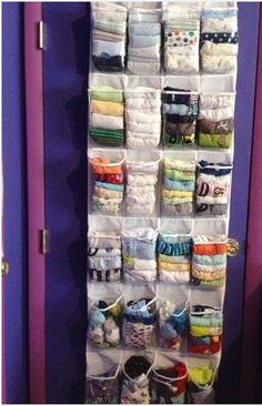 ideas for clothes closet organisation space saving shoe storage Organisation Hacks, Sock Organization, Clothing Organization, Organizing Tips, Organising, Underwear Organization, Baby Wardrobe Organisation, Small Nursery Organization, Diy Wardrobe