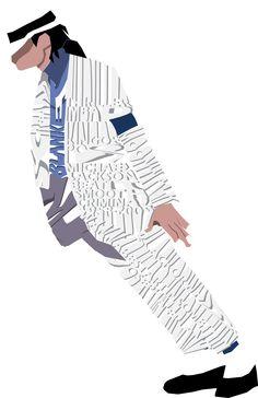 Michael Jackson Typography/Illustration