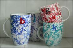 Anthropologie Homegrown Monogram Mugs | So You Think You're CraftySo You Think You're Crafty
