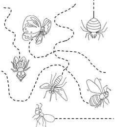 Insects Worksheets for Kindergarten. 20 Insects Worksheets for Kindergarten. Fun Worksheets For Kids, Letter Worksheets For Preschool, Free Kindergarten Worksheets, Printable Worksheets, Insect Body Parts, Insect Crafts, April Preschool, Kids Work, Therapy