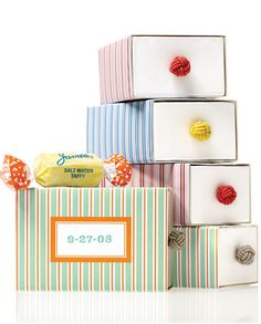 How to make striped favor boxes