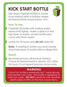 Use when kick starting the HOTBIN in winter or after a break where the bin as not been fed for a while. Full instructions are here: http://www.hotbincomposting.com/blog/start-composting-in-the-winter.html | #compost #waste #recycling