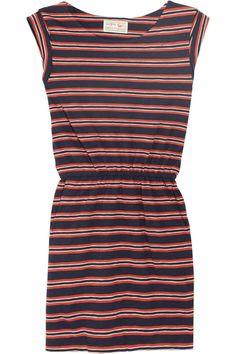 AUBIN & WILLS  Haslemere striped cotton-jersey dress