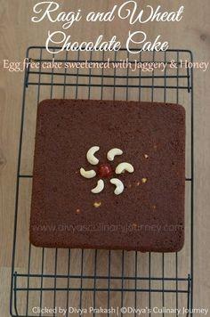 Ragi and Wheat Chocolate Cake - Eggless