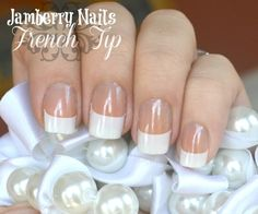 Jamberry Nails French Tip Design so that they'll stay on and will be easy to remove