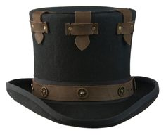 Secret Compartment Steampunk Victorian Top Hat by Dracula's Closet