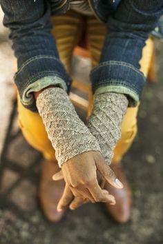 Gelsomina wristwarmers from Brooklyn Tweed