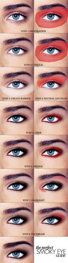 Fotos de moda |  15 tutoriales de como maquillar ojos ahumados | http://soymoda.net