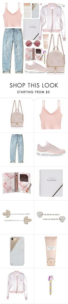 """""""pretty much for a basic"""" by faradila ❤ liked on Polyvore featuring Hollister Co., NIKE, Ted Baker, LC Lauren Conrad, Carolee, Native Union, Carven, Brigitte Bardot and BackToSchool"""