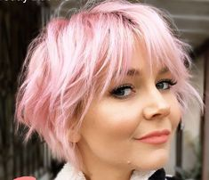 Pixie Hairstyles, Short Hairstyles For Women, Cool Hairstyles, Pixie Haircuts, Punk Pixie Haircut, Hairstyle Ideas, Hair Ideas, Light Pink Hair, Light Curls