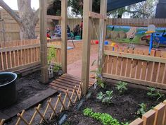 """Sunrise day care and kindergarten"" - Irresistible ideas for play-based learning.  Beautiful use of a natural environment in a relatively small area.  Originally Pinned by Alec Duncan of http://childsplaymusic.com.au/"