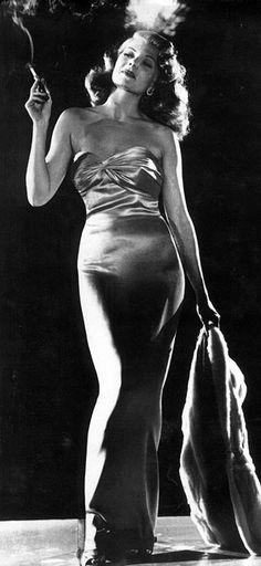 Film noir femme fatale. A vixen among women, the femme fatale is an iconic look.