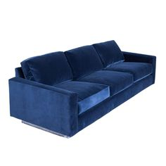 Cy Mann Sofa in Grey Blue Velvet   From a unique collection of antique and modern sofas at https://www.1stdibs.com/furniture/seating/sofas/