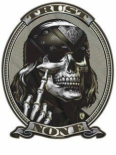 Skull art - All Around Art Pictures Biker Tattoos, Skull Tattoos, Totenkopf Tattoos, Money Tattoo, Biker Quotes, Skull Artwork, Skull Wallpaper, Skull Tattoo Design, Oldschool