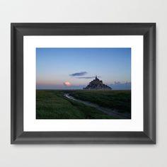 Le Mont-Saint-Michel Framed Art Print by Rainer Steinke - $40.00 Monastery isle castle brittany landscape