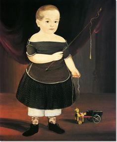 William Matthew Prior - Boy with Toy Horse and Wagon Painting