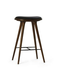 Mater High Stool, premium dark stained oak by Space
