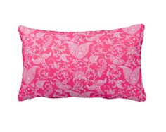 7 tamaños disponibles: Rosa almohada cubierta caliente almohada rosa cubierta de cojín rosa cubierta Euro rosa almohada cubierta rosa almohada Lumbar Paisley almohada