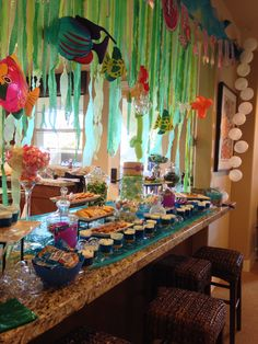 Little mermaid candy buffet dessert bar