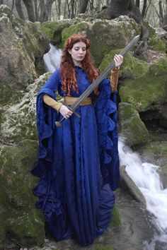 Medieval 14th century houppelande by TheSeamstressofRohan on Etsy