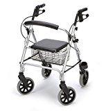 Leichtgewicht Rollator Ligero Größe: S inkl. Einkaufskorb und Stockhalter/ von easyReha