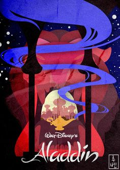 Aladdin ~ Minimal Movie Poster by Ruben ~ Disney Series Disney Magic, Disney Pixar, Walt Disney, Disney Amor, Animation Disney, Disney Dream, Disney And Dreamworks, Disney Movie Posters, Disney Movies
